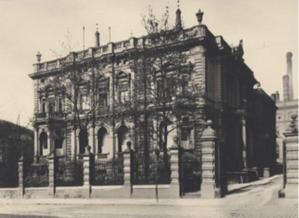 """Gutshaus an der Prenzlauer Allee (""""Schloss im Norden"""") in Berlin, historische Aufnahme"""