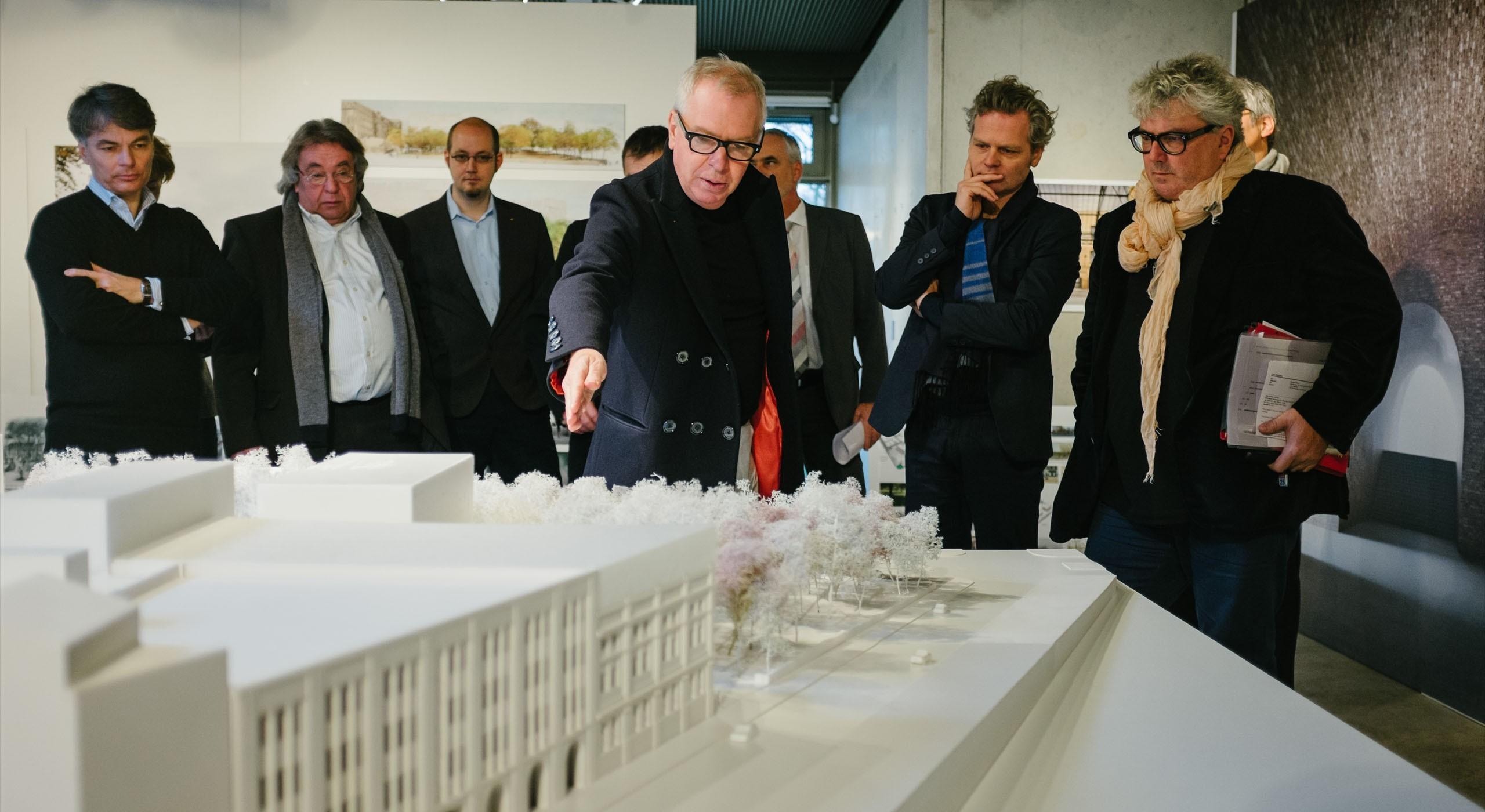 """Modell des neuen Areals """"Bötzow Berlin"""" von Architekt David Chipperfield © FTWild"""