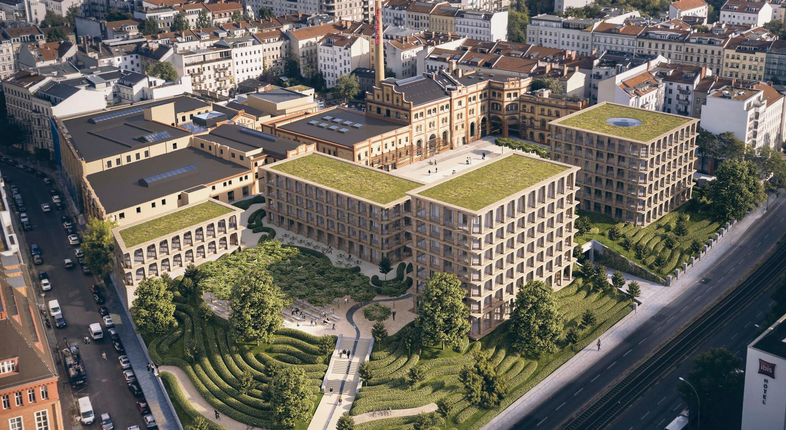 Luftaufnahme Gelände der ehemaligen Bötzow-Brauerei Berlin