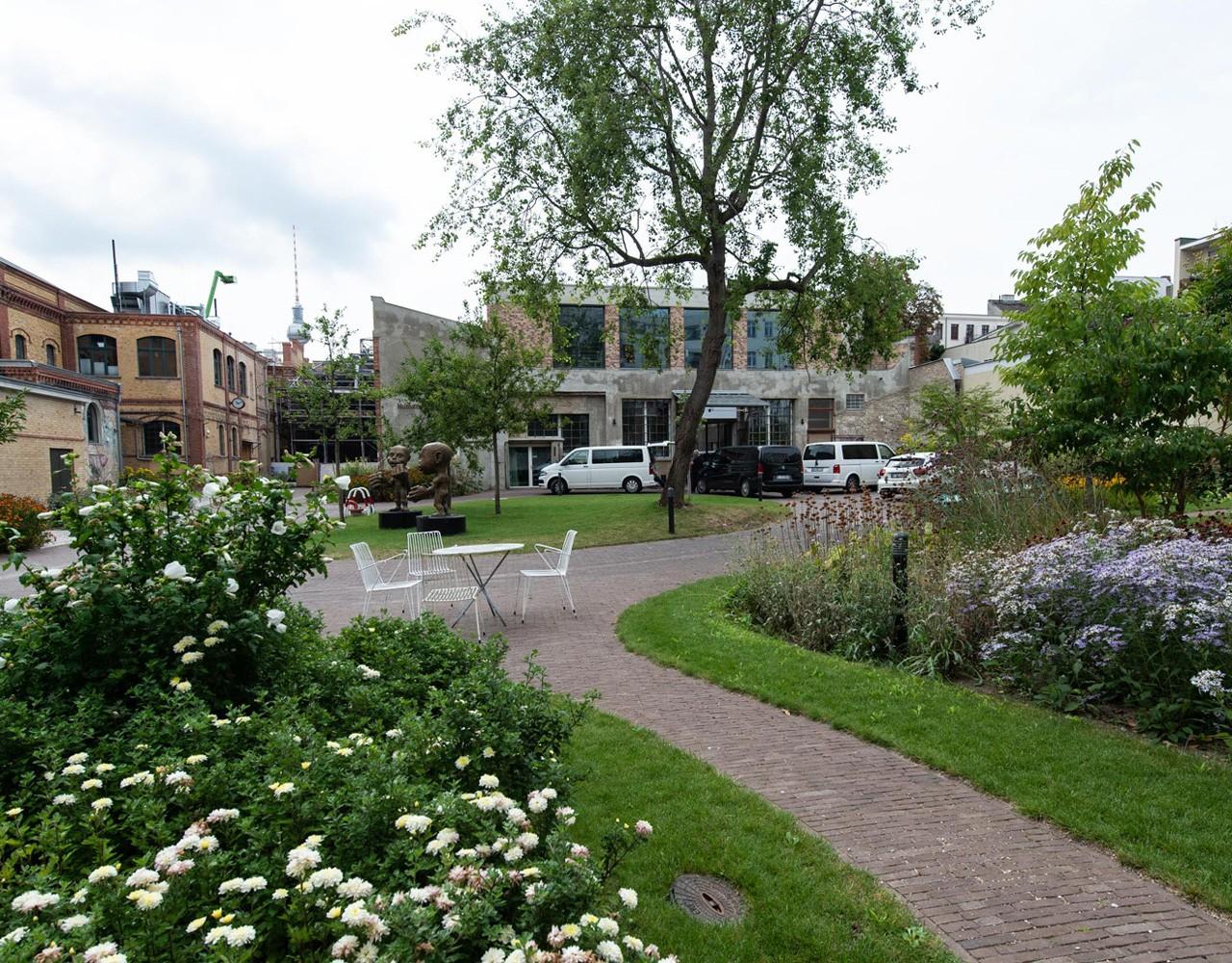 Patientengarten auf dem Gelände Bötzow Berlin